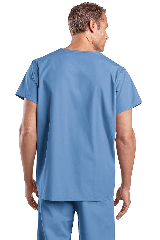 41ce1c21939 Amazon.com: Cornerstone Mens Reversible V-Neck Scrub Top (CS501): Medical  Scrubs Shirts: Clothing