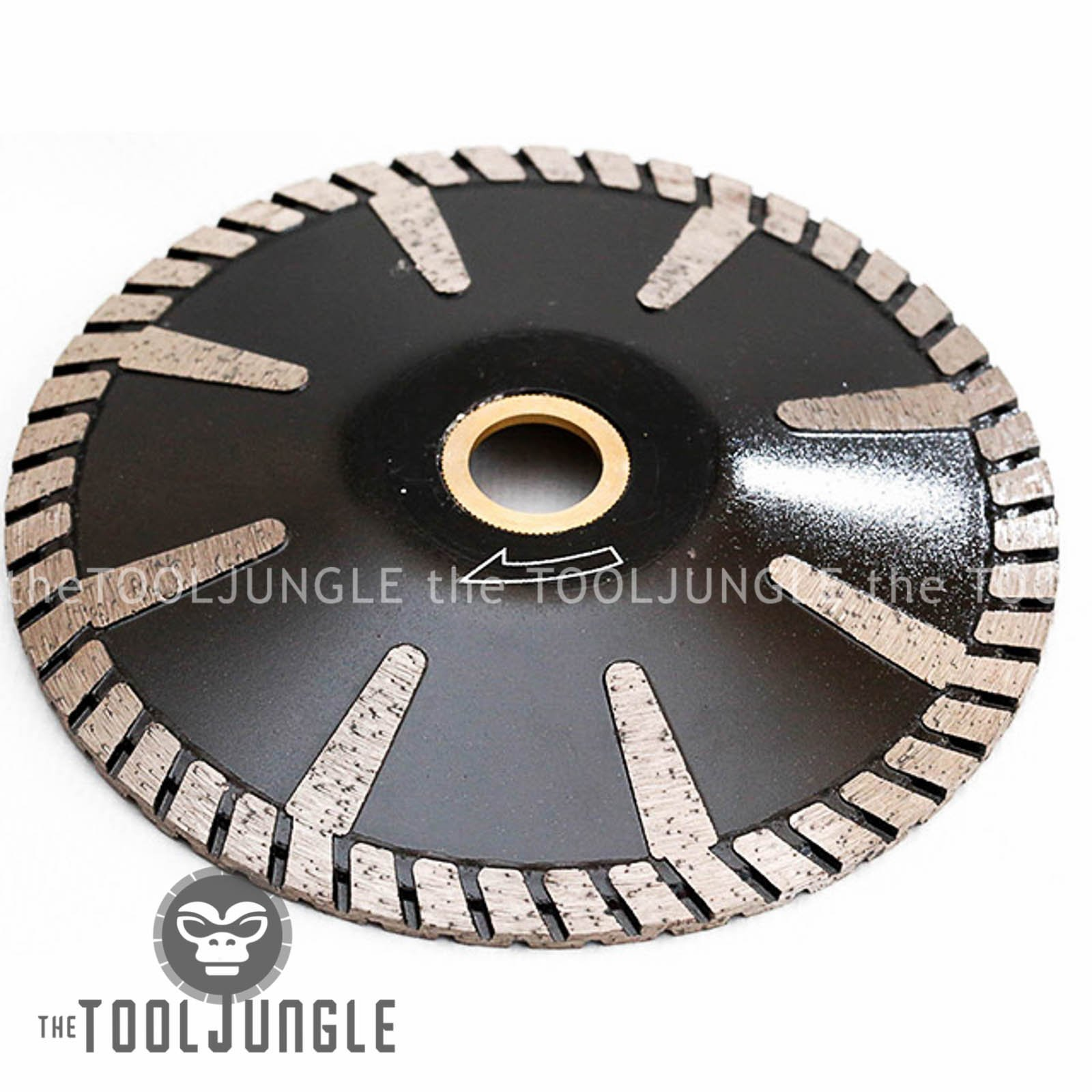 5'' Diamond Turbo Blade Convex Sink Cutter Wet/DRY Granite Stone Concrete by Tiburon