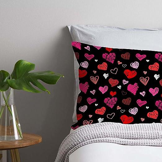 ArtzFolio Art Pattern Pillow Cover Cases Canvas Fabric 27X18;Set of 2;Without Filler Bettlaken & Kissenbezüge