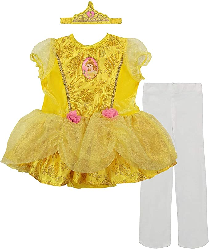 Amazon.com: Disfraz de princesa Belle de Disney para niña ...