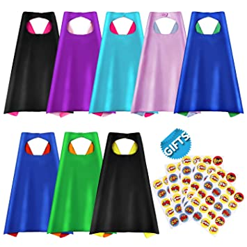 Superhero capes party dress up cape reversible dual color party costume with 100 superhero