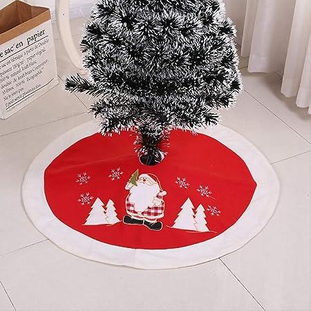 FRGVDS Falda de árbol de Navidad Bordado de Alta Gama Decorado ...