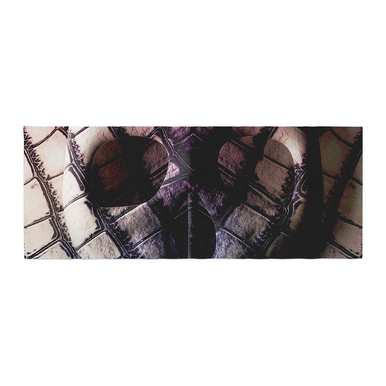 Kess InHouse Danny Ivan Skull Dark Purple Bed Runner DI1036ABR01
