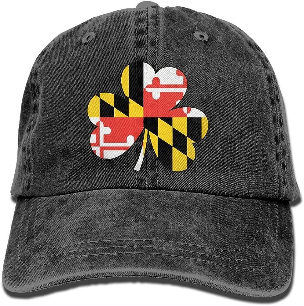 Denim Baseball Cap Green Clover Art Love Summer Hat Adjustable Cotton Sport Caps