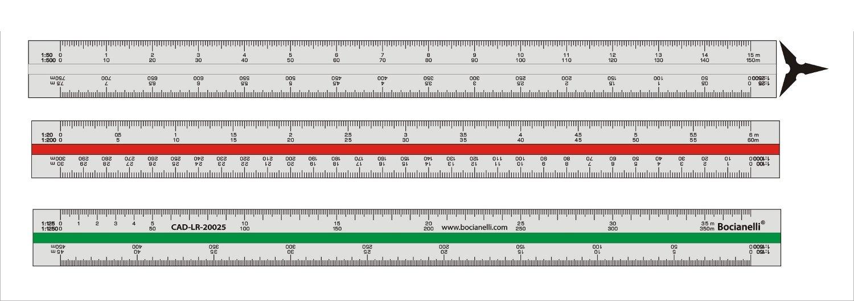 uxcell 1:20 1:25 1:50 1:75 1:100 1:125 Type Triangular Ratio Scale Ruler 32cm