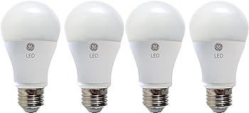 4-Pack GE Lighting A19 60 Watt Equivalent LED Light Bulbs