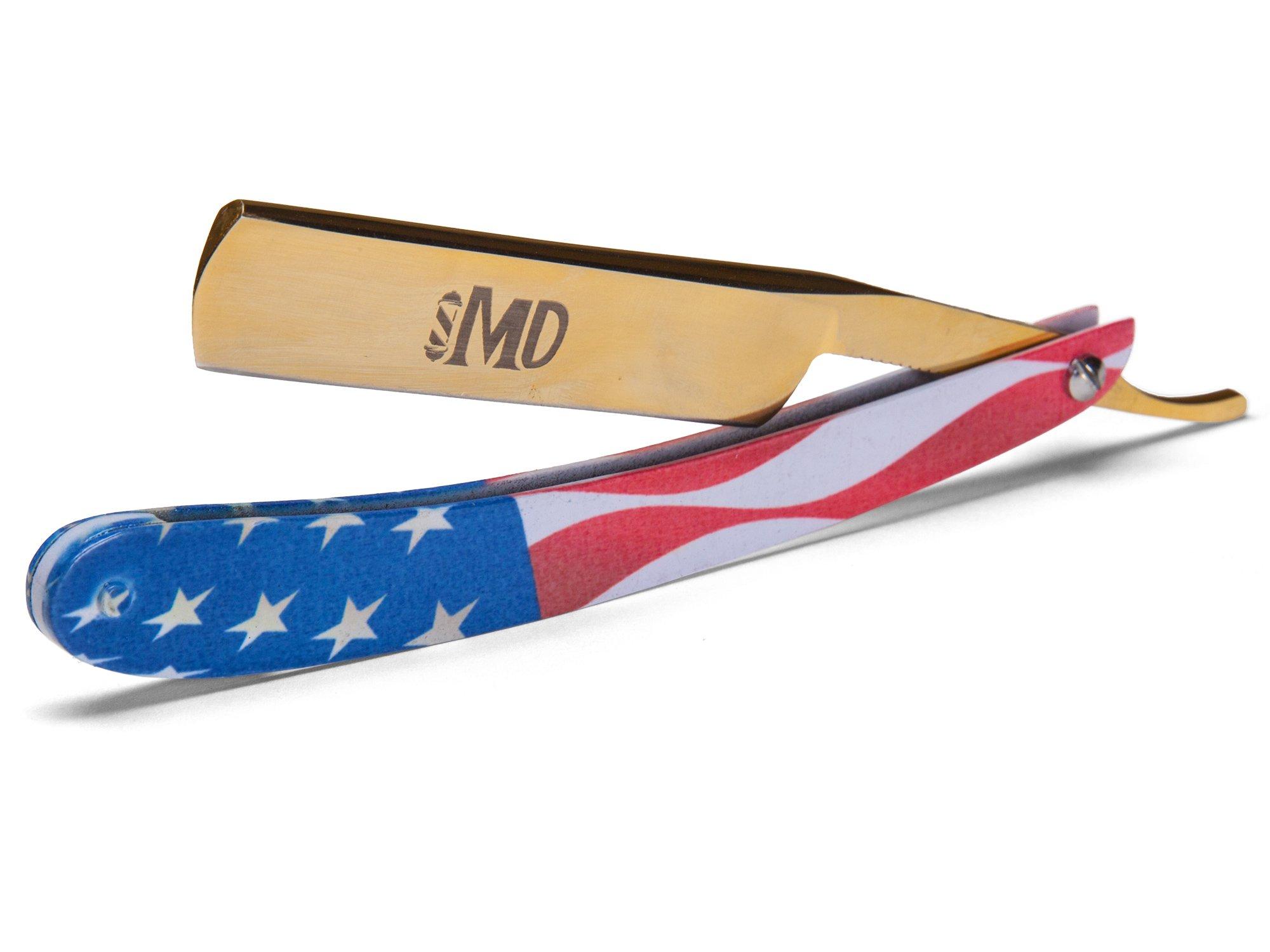 ~SHAVE READY~ MD USA Straight Razor (Gold)