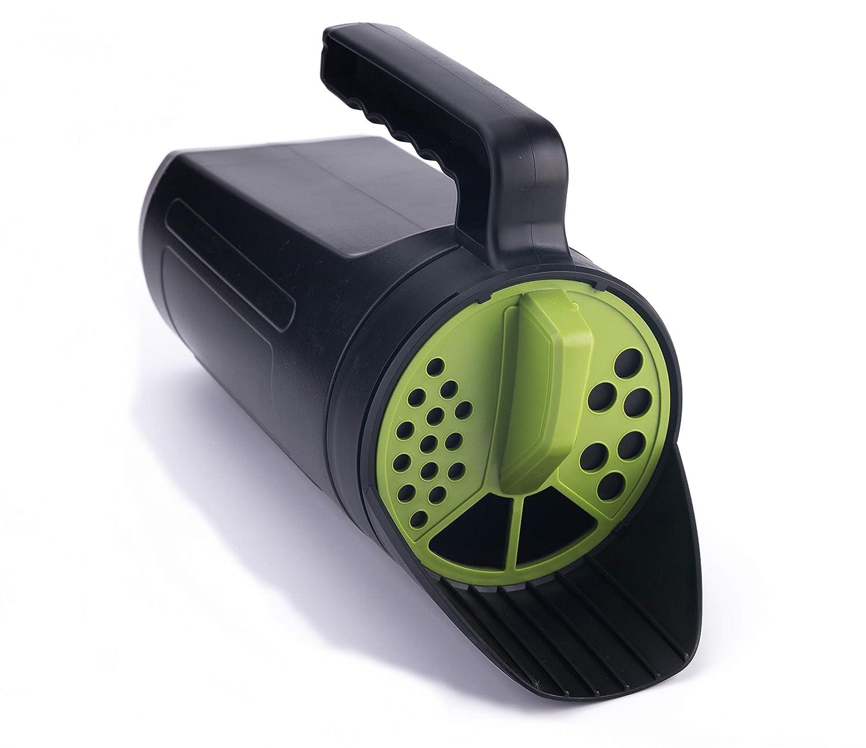 TIPU Hand Spreader Shaker, Handheld Spreader for Salt, Ice & Snow Melt, De-Icer, Seed and Fertilizer, Multiple Adjustable Opening Sizes - Up to 80 Oz