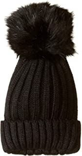 56a7f325bf8322 Steve Madden Women's Chunky Specked Beanie, Black, ONE Size at ...
