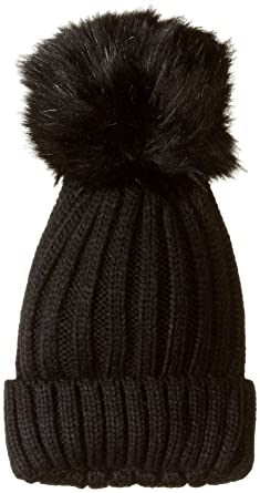 Steve Madden Women s Knit Beanie with Oversized Pom d874108df6f