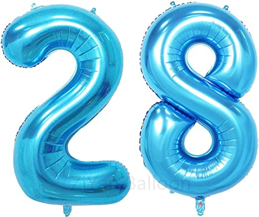 "Blue Happy Birthday Giant Party Sign W//Confetti 42/"" x 72/"""