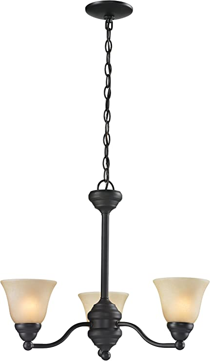 Bronze Finish and Golden Mottle Shade of Glass Material Z-Lite 100701BRZ-GM16 One Light Pendant Metal Frame