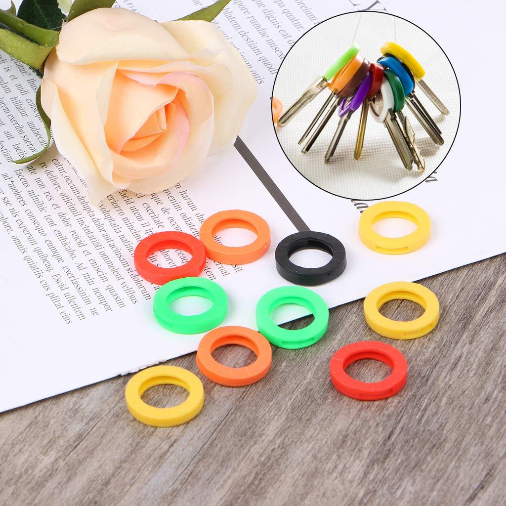 Xuniu 10 Pezzi Silicone Colori Copri Copri Chiave Topper Portachiavi Portachiavi casa Chiave Caso Chiave
