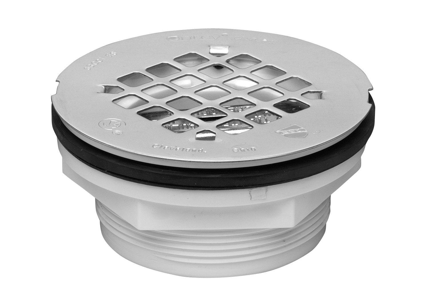Oatey 4.2 x 4.2 x 1.9 42099 Shower Drain, 4.2'' x 4.2'' x 1.9'', metallic by Oatey