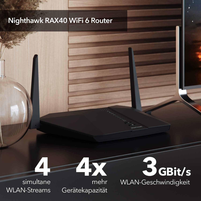 Netgear Nighthawk Rax40 Wifi 6 Wifi Router Ax3000 Computers Accessories