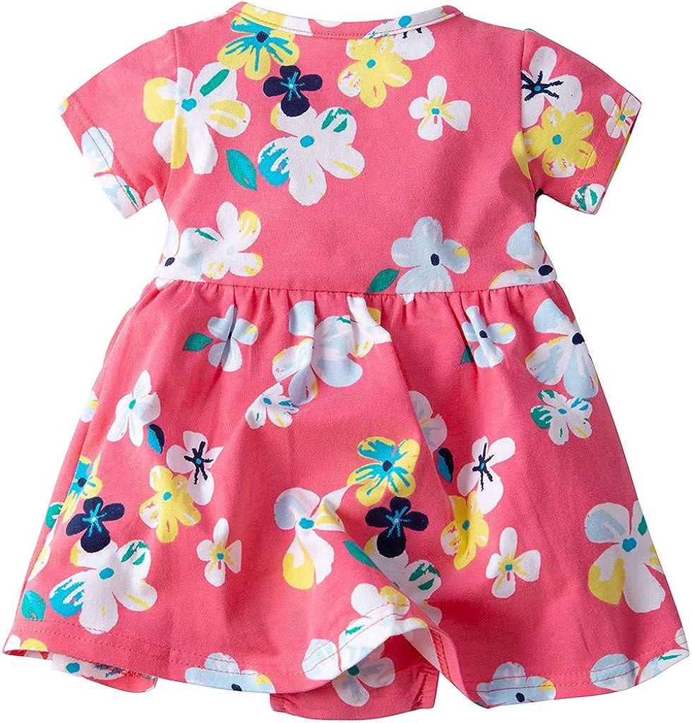 JiAmy Baby Kleid M/ädchen Kleider Strampler Sommer Prinzessin Kurze /Ärmel Kleidung Party Festlich Outfits Kleinkind Bodys