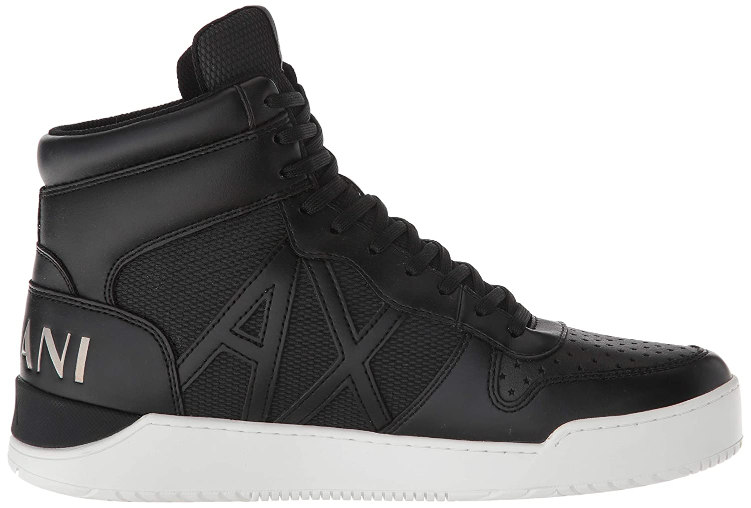 Amazon.com: A|X Armani Exchange Mens High Top Lace Up Sneaker, Black 00002, 7 M US: Shoes