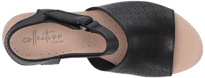 ba3ff500e20b Amazon.com  CLARKS Women s Cammy Glory Wedge Sandal  Shoes