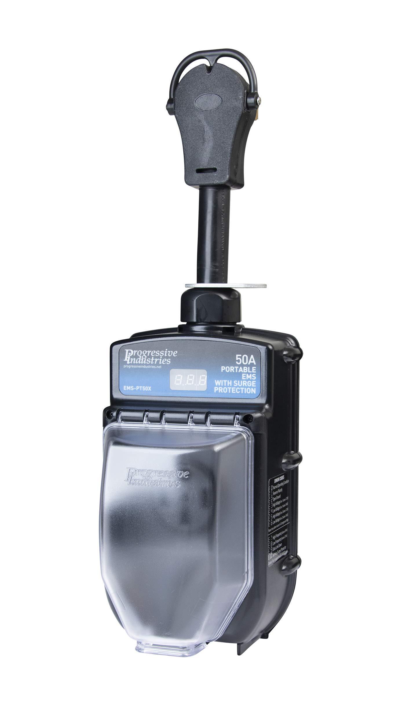 PROGRESSIVE INDUSTRIES EMS-PT50X Portable RV Surge Protector (50 A)
