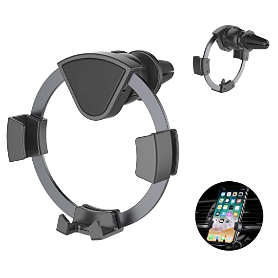 360 Rotation Air Vent Cell Phone Holder for Car, Cell Phone Mount Cradle  for Most Smartphones Like iPhoneXS/X/8/7/7S/6/6S/6 Plus,Samsung Galaxy