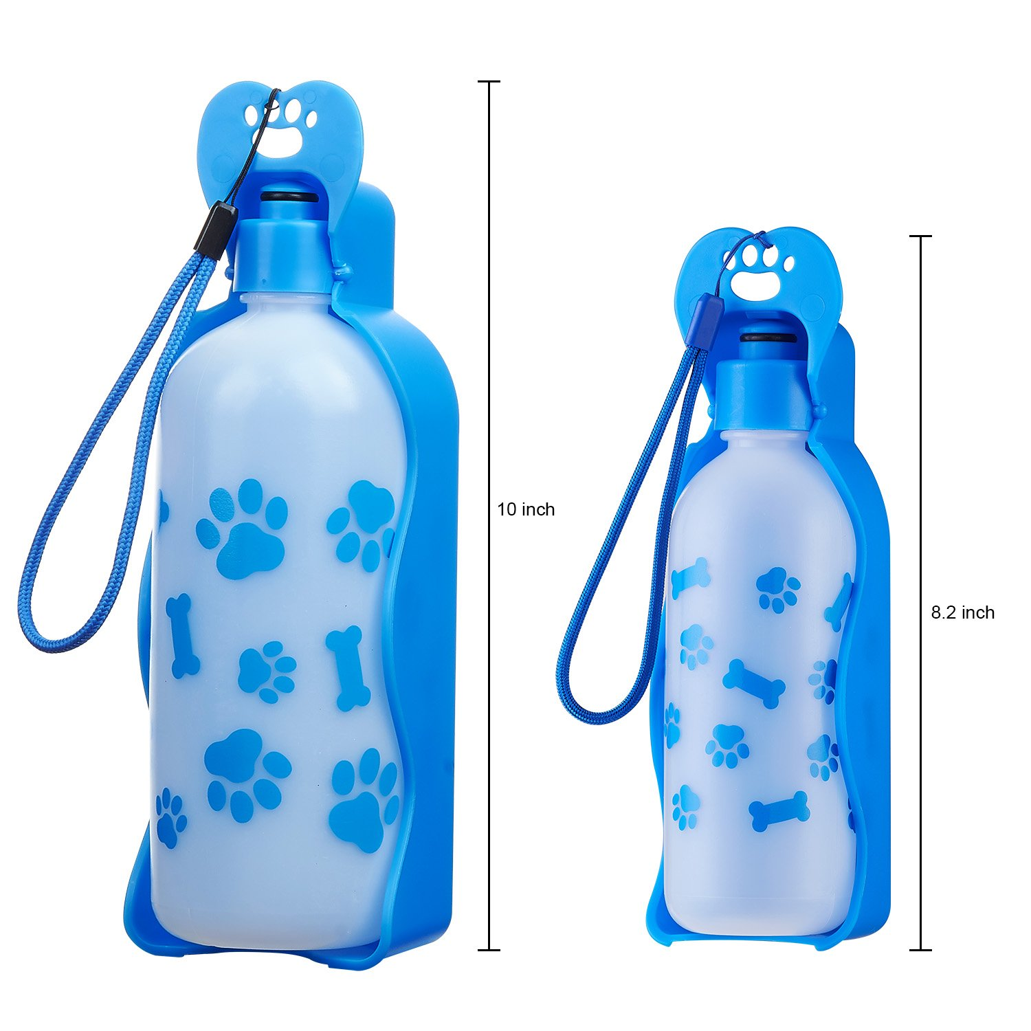 ANPETBEST Travel Water Bottle 650ML / 22oz Water Dispenser Portable Mug for Dogs,Cats and Other Small Animals (Blue-650ML) by ANPETBEST (Image #2)