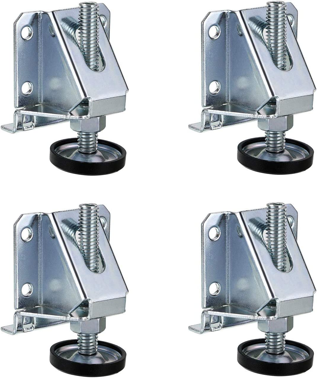 "Tulead Leveling Feet 3"" Hight Adjustable Legs Leg Leveler Heavy Duty Furniture Leveling Foot 4PCS with Mounting Screws"