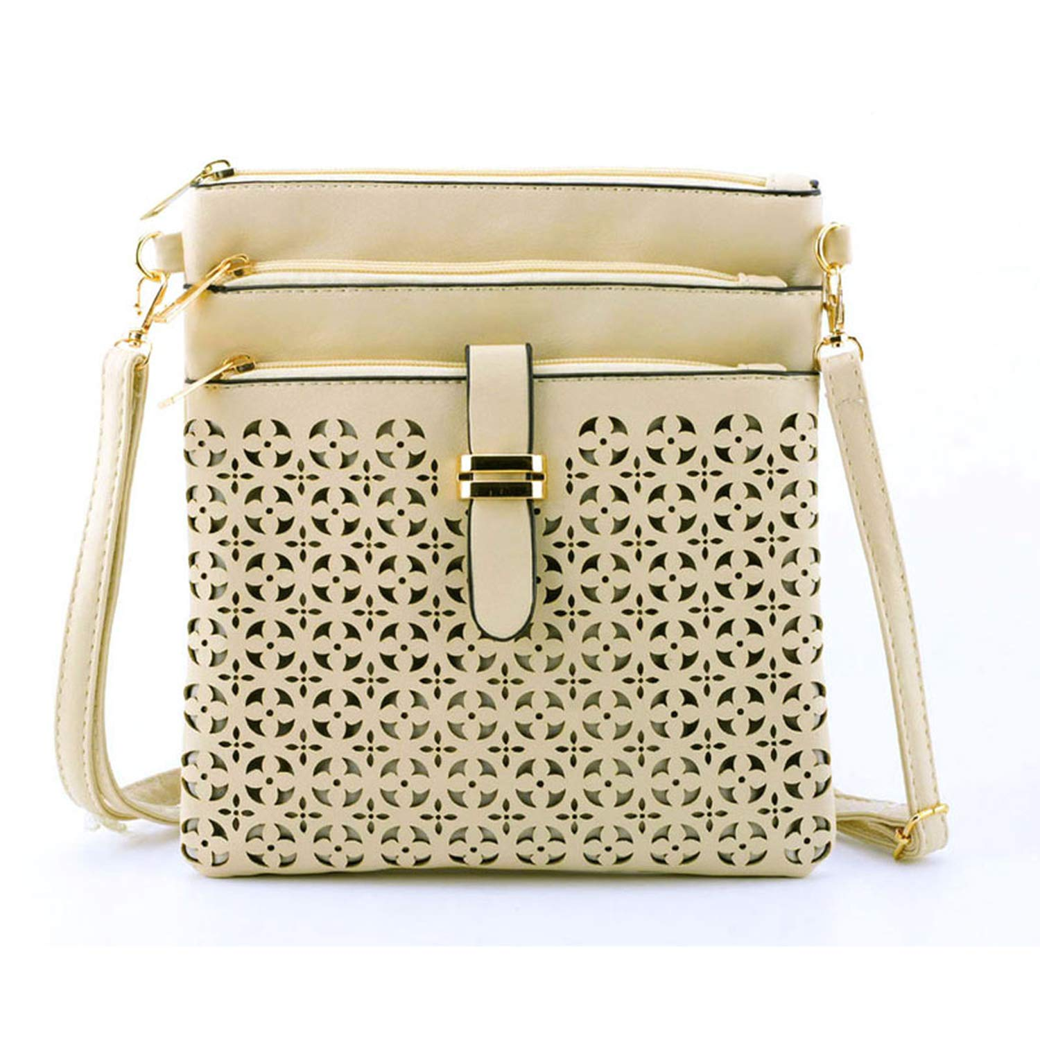 Small Bag Women Messenger Bags Soft PU Leather Hollow Out ...