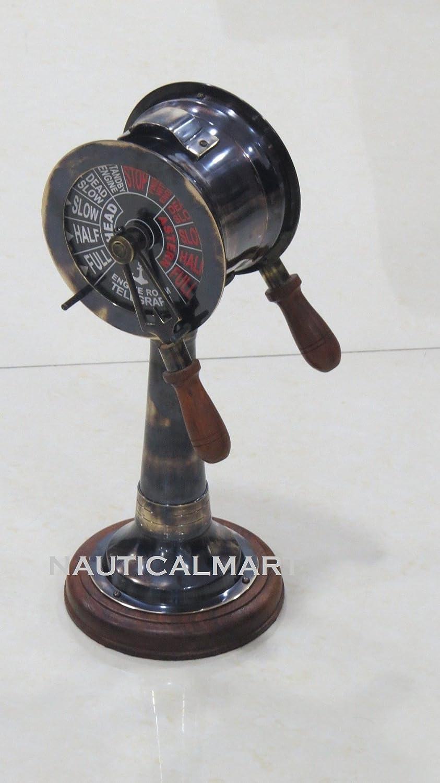 18  Schwarz Antik Messing Telegraph W W W Holzsockel B06XYPJWML | Umweltfreundlich  | Elegant und feierlich  | Hat einen langen Ruf  958645