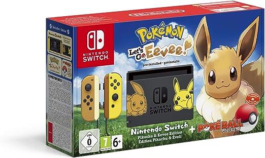Nintendo Switch: Consola edición Pokémon + Lets Go Eevee ...