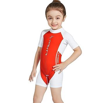 2b2cf6c4d Kids Swimwear Boys Girls Swimsuits Anti-UV Sun Safe Swimming Beach Costume  Child All-