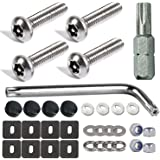 Aootf Stainless Steel License Plate Screws- Rust Proof Car Tag Frame Holder Mounting Hardware Kit,1'' M6 Anti Theft Screws, B