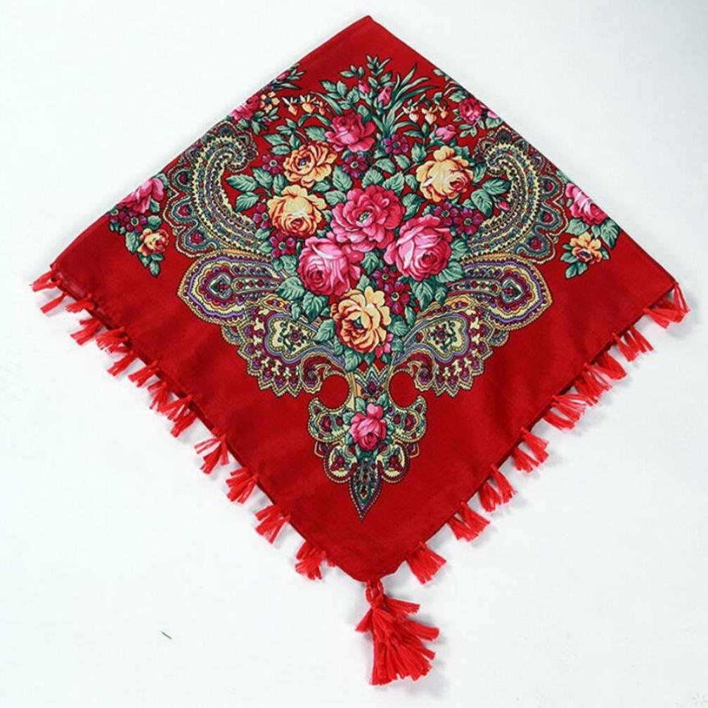 2c886a0f0a8d Hunpta Mode Femme carré Tête Écharpe Wraps écharpes pour femmes Imprimé  foulards de cou Green
