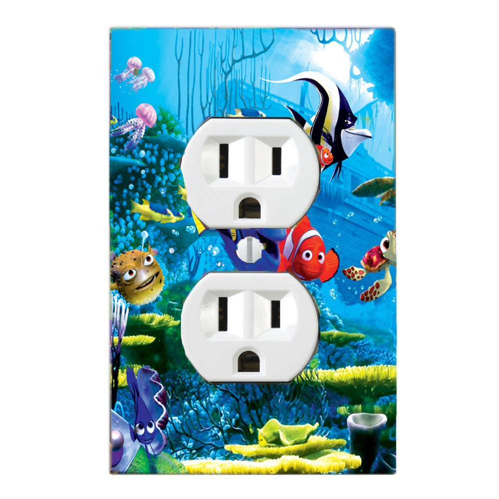GOT YOU COVERED FINDING NEMO 3 DORY AND FRIENDS LIGHT SWITCH COVER OR OUTLET ((OPTION1) 1XOUTLET)