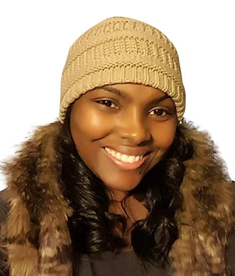 Amazon.com  Always Eleven Satin Lined Knit Beanie Hat  Clothing 7cc2aa2296e8