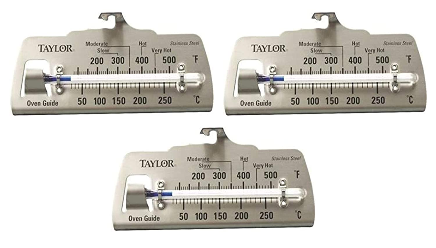 "Taylor Oven Thermometer 100 - 600 Deg F 4-7/8"" X 2-1/4"""