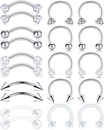 Never Been Worn! 16G Body Jewelry 1 Pierced Surgical Steel Bar in Bag Brand New