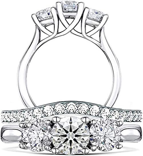 REAL 925 sterling silver  engagement 7mm princess cz ring size L P Q women girl
