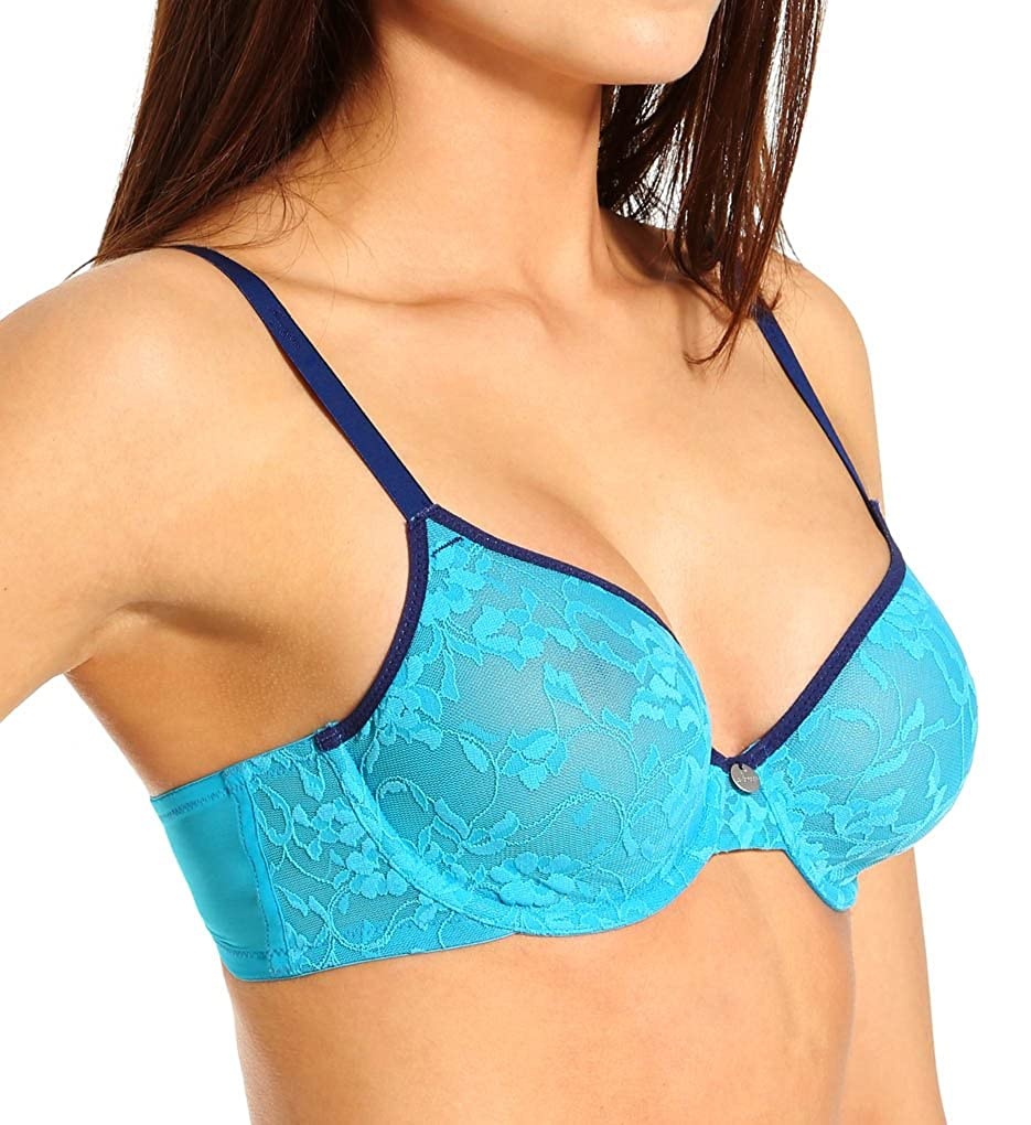 DKNY Intimates Womens Signature Lace Perfect Lift Demi Bra DKNY Intimates Apparel 458000-DBK-P