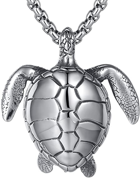 Lineave mens stainless steel extra large sea turtle pendant lineave mens stainless steel extra large sea turtle pendant necklace 23 2quot aloadofball Gallery