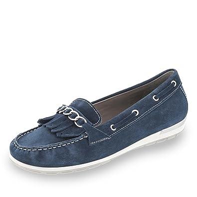 623018a42326 ARA Damen Slipper 12-30857-08 blau 172142  Amazon.de  Schuhe ...