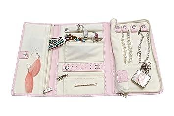 Amazoncom Vegan Leather Travel Jewelry Case Jewelry Organizer