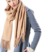 Womens Thick Soft Cashmere Wool Pashmina Shawl Wrap Scarf - Aone Warm Stole(5 Colors)