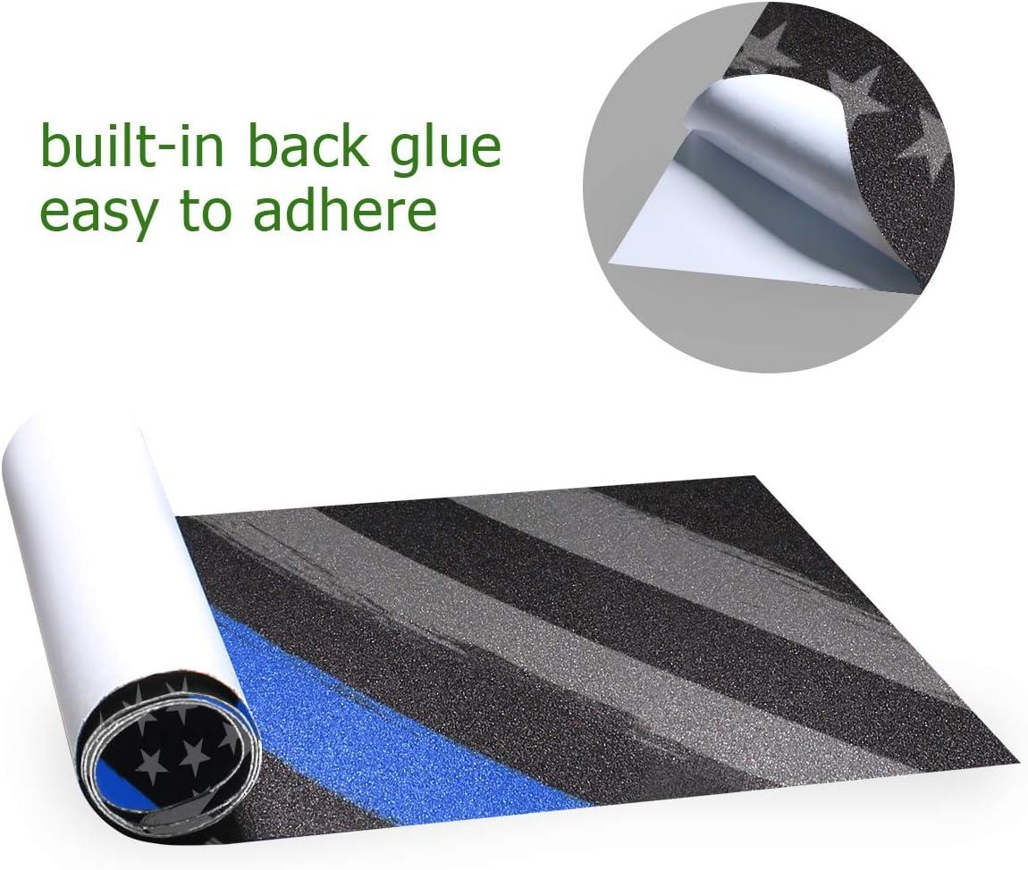 Decopik Thin Blue Line Flag Tactical Printed Skateboard Grip Tape Sheet Longboard Griptape
