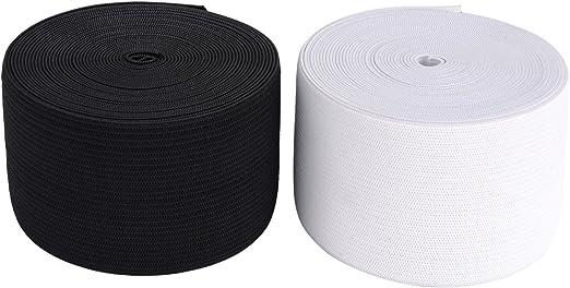 Schwarz Unbekannt 25 m lang 25 mm breit Gummiband Weis oder Schwarz