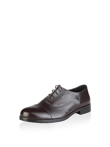 19V69 Elie, Zapatos de Cordones Oxford Para Hombre, Pardo, 44 EU