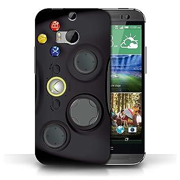 Carcasa/Funda STUFF4 dura para el HTC One/1 M8 / serie: Consola de juegos - Xbox 360 negro