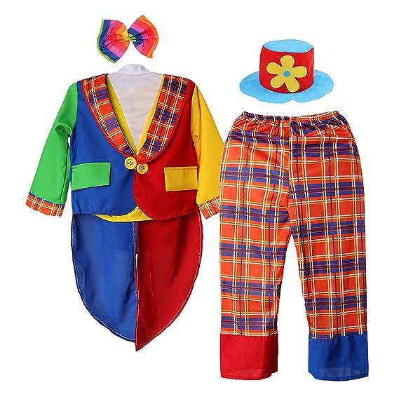 MagiDeal Enfant Costume de Clown Décorations de Saison Vêtement Fête Drôle  Chemise et Pantalon  Amazon.fr  Vêtements et accessoires 6de16a6c741