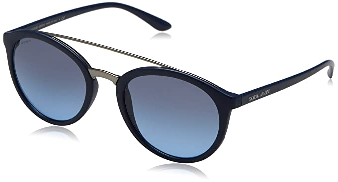9c2ec42701b Image Unavailable. Image not available for. Color  Giorgio Armani Women s  AR8083-50598F-52 Blue Oval Sunglasses