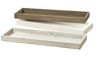 B O L T Z E 1 X Deko Tablett Mdf Weiss Grau O Braun Lange 53 Cm