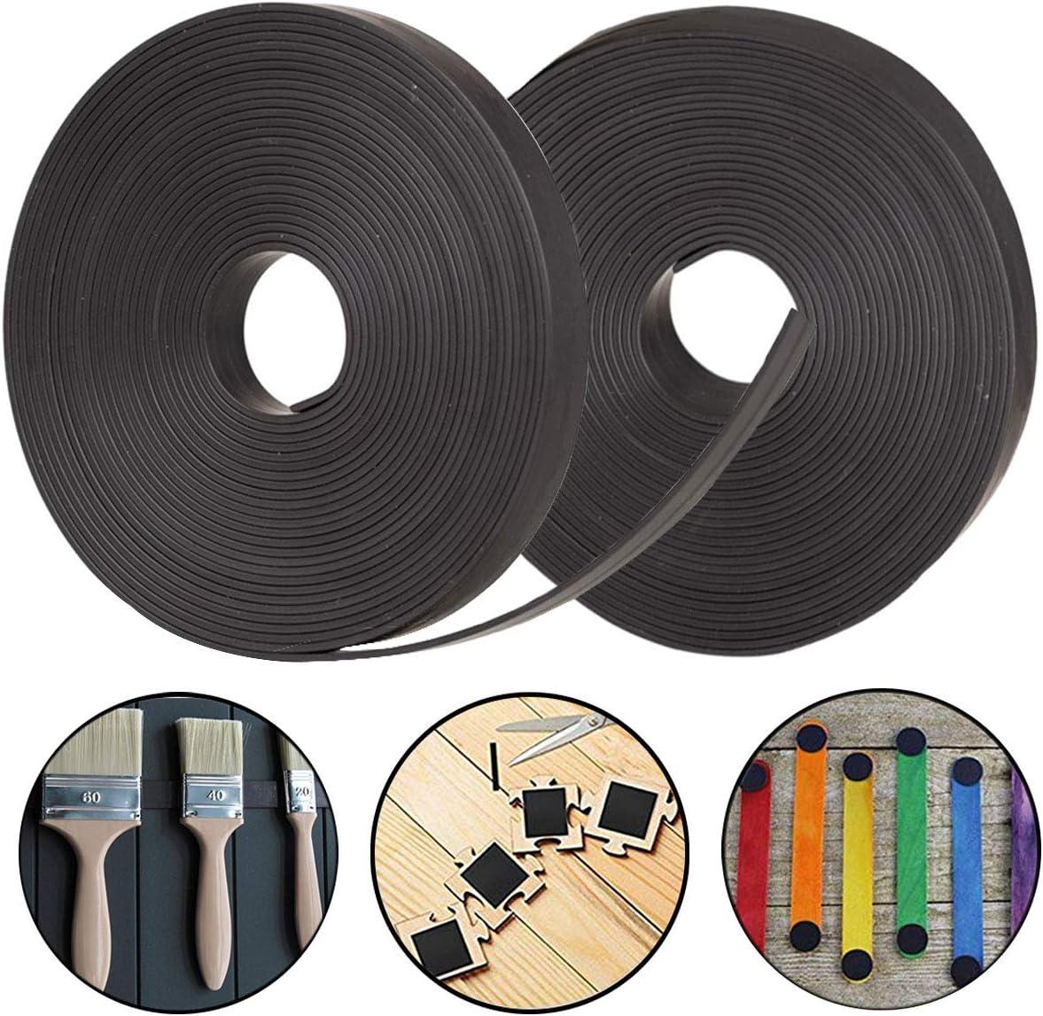 Osuter 2PCS Cinta Magnetica Autoadhesiva Flexible Banda Magnética Adhesiva Cutable para Cartel Postal Foto(6M): Amazon.es: Bricolaje y herramientas